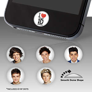 One Direction Fat Dots Stickers