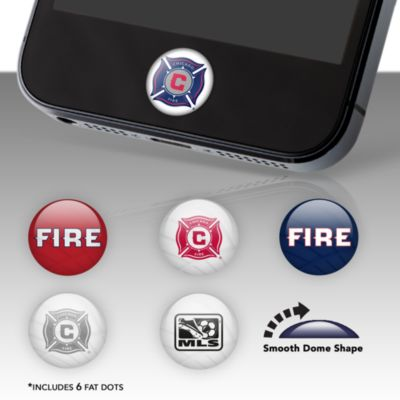 Chicago Fire Fat Dots Stickers