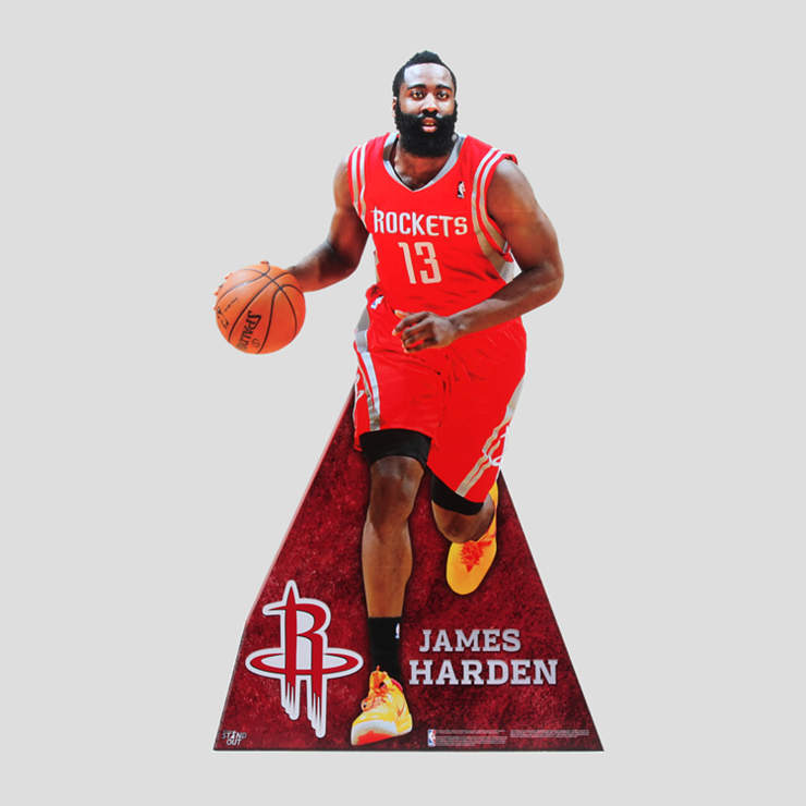 James Harden Back Step: James Harden Life-Size Stand Out