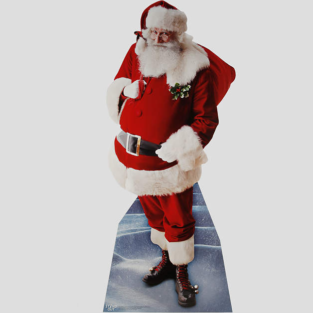 Christmas Decorations Life Size Santa: Life-Size Santa Claus Stand Out Cut Out