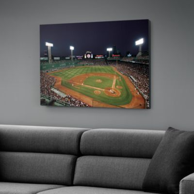 Inside Fenway Park at Night Canvas Print