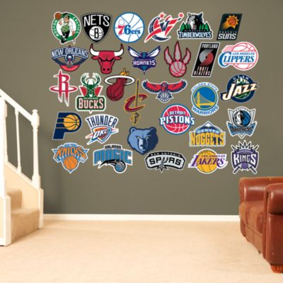 NBA Logo Collection Fathead Wall Decal