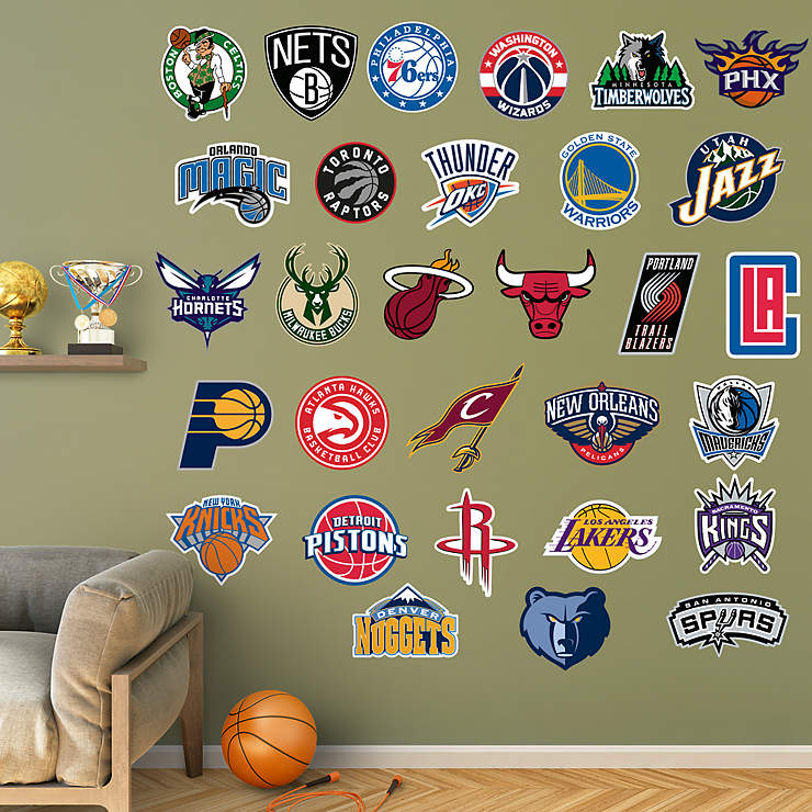 NBA Logo Collection Wall Decal | Shop Fathead® for NBA Decor