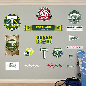 Portland Timbers Logo Collection Fathead Wall Decal
