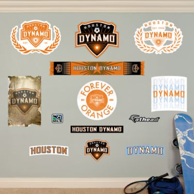 Houston Dynamo Logo Collection Fathead Wall Decal