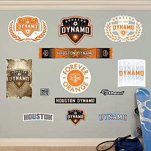 Houston Dynamo Logo Collection Fathead Wall Decal