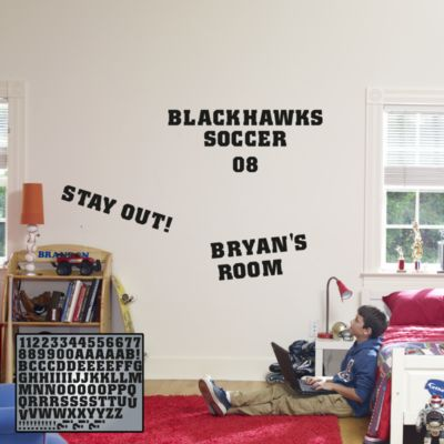 Collegiate Letters Fathead Wall Decal