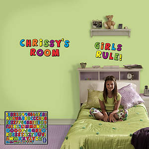 Kids Letters Fathead Wall Decal