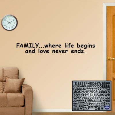 Comic Sans Letters Fathead Wall Decal