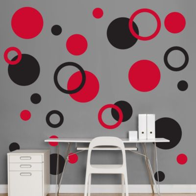 Black & Red Polka Dots Fathead Wall Decal