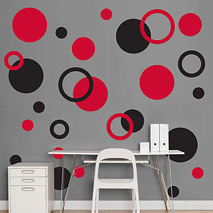 Black & Red Polka Dots