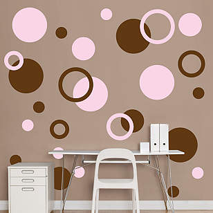 Brown & Pink Polka Dots