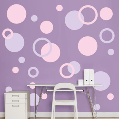 Lavender & Pink Polka Dots Fathead Wall Decal