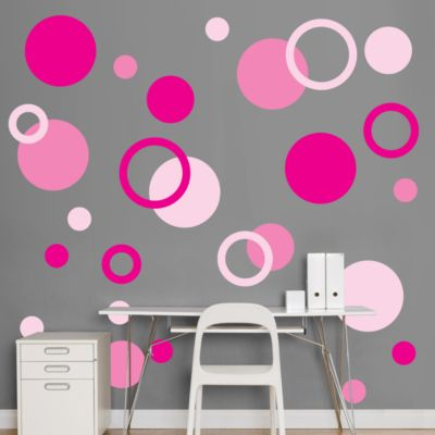 Pink Polka Dots Fathead Wall Decal