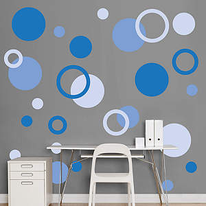 Blue Polka Dots Fathead Wall Decal