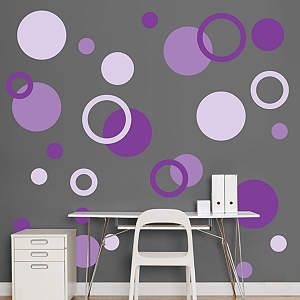 Purple Polka Dots Fathead Wall Decal