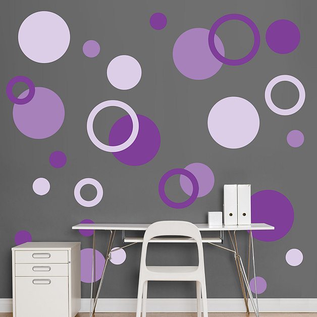 Polka Dots Wall Decal Shop Fathead For Basic Shapes Decor