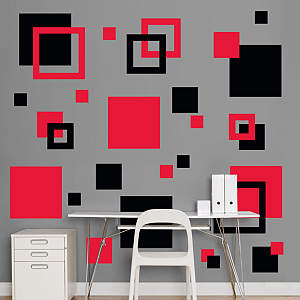 Black & Red Squares Fathead Wall Decal
