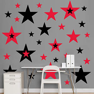 Black & Red Stars  Fathead Wall Decal