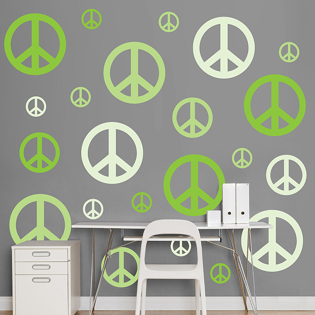 Wall Art Greenpeace : Peace signs wall decal fathead? for thematic shapes