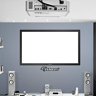 Big Projection Screen on Fathead Vinyl
