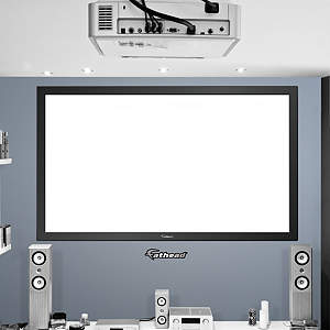 Real.Big. Projection Screen on Fathead Vinyl Fathead Wall Decal
