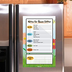 Dry Erase House Sitter Notes Fathead Decal