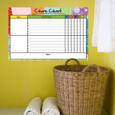 Dry Erase Chore Chart  Fathead Decal