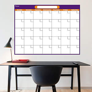Purple & Orange Dry Erase Blank Calendar  Fathead Wall Decal