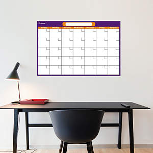 Purple & Orange Medium Dry Erase Blank Calendar  Fathead Wall Decal