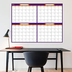 Purple & Orange Dry Erase Blank 4 Month Calendar  Fathead Wall Decal