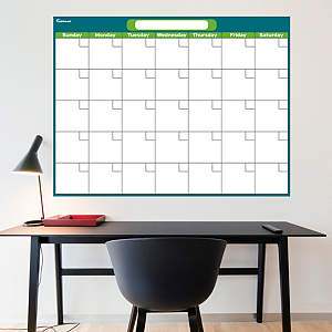 Turquoise & Lime Dry Erase Blank Calendar  Fathead Wall Decal