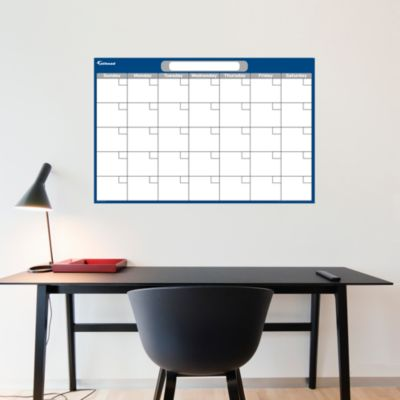 Navy & Gray Medium Dry Erase Blank Calendar  Fathead Wall Decal