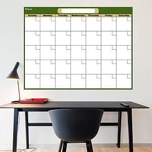 Forest & Khaki Dry Erase Blank Calendar  Fathead Wall Decal