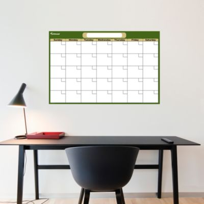 Forest & Khaki Medium Dry Erase Blank Calendar  Fathead Wall Decal