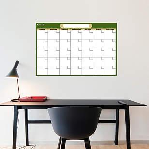 Forest & Khaki Medium Dry Erase Blank Calendar
