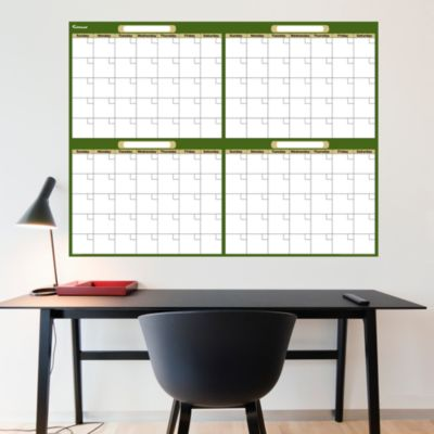 Forest & Khaki Dry Erase Blank 4 Month Calendar  Fathead Wall Decal