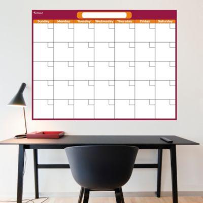 Cranberry & Orange Dry Erase Blank Calendar