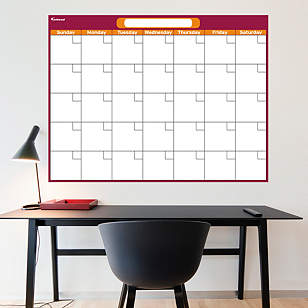Cranberry & Orange Dry Erase Blank Calendar