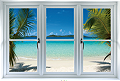 Virgin Islands Beach: Instant Window Wall Decal