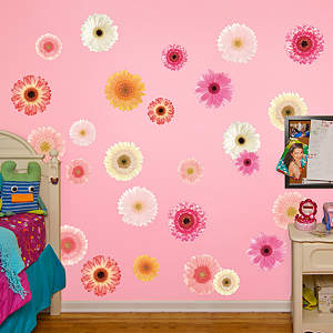 Pastel Daisies Fathead Wall Decal