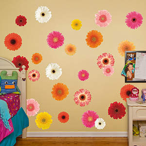 Mixed Daisies Fathead Wall Decal