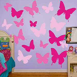 Pink Butterflies Fathead Wall Decal