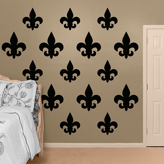 Fleur de lis wall decal shop fathead for basic shapes decor for Fleur de lis home decorations