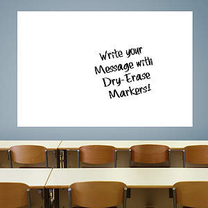 Jumbo White Dry Erase Board by Fathead Fathead Wall Decal