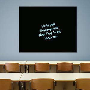 Extra Large Black Dry Erase Board by Fathead Fathead Wall Decal