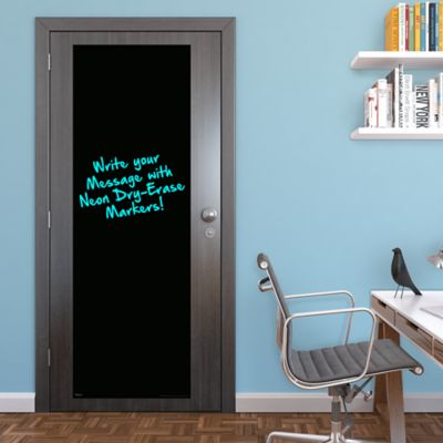 Black Dry Erase Door Boards - Two Pack Fathead Wall Decal