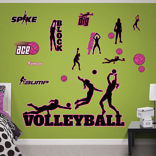 Volleyball Collection Wall Decal Shop Fathead For General Sports