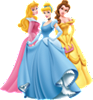 Aurora, Cinderella and Belle - Disney Princesses Wall Decal
