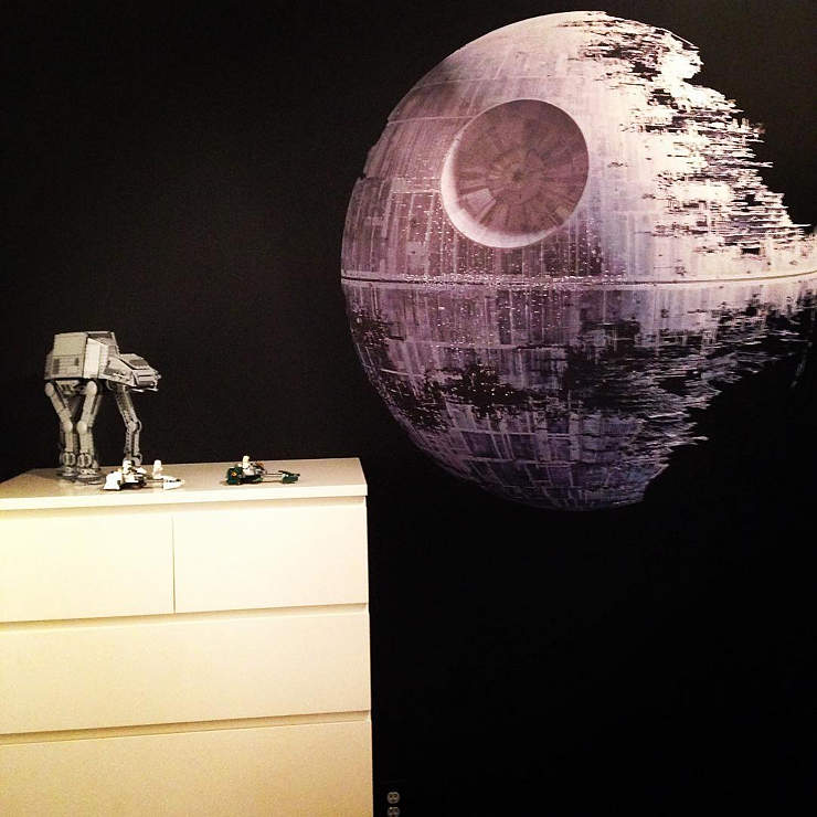 Death star wall decal shop fathead for star wars movies for Death star wall mural
